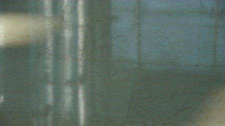 entry level : Marble floor at Luxury mall,Sun,shadow,hall,overlooking,wealth. Stock Footage