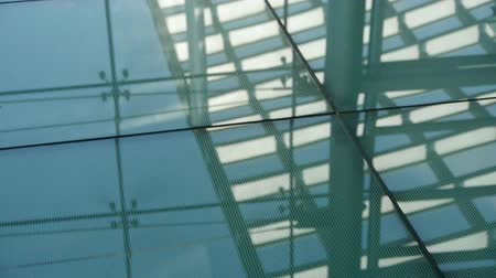 entry level : Smooth surface,reflection of roof,Luxury mall glass house,hall,Shadow.abstract,backgrounds,animation, Stock Footage