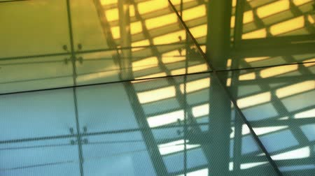 escaliers : Surface lisse, reflet de toit, maison de verre de luxe centre commercial, hall, Shadow.abstract, milieux, l'animation,