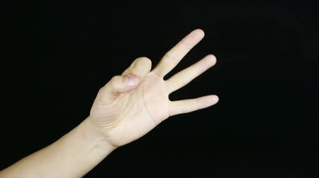 sayma : Count from one to five,hand sign.