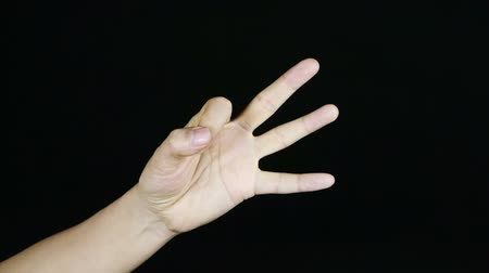 dedo humano : Count from one to ten,hand sign.