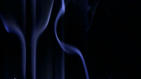 esotericism : blue smoke like as silk. Stock Footage