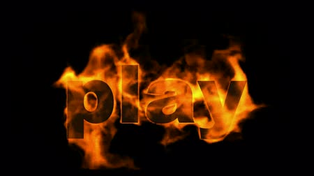 ardente : sign fire play word.  Stock Footage
