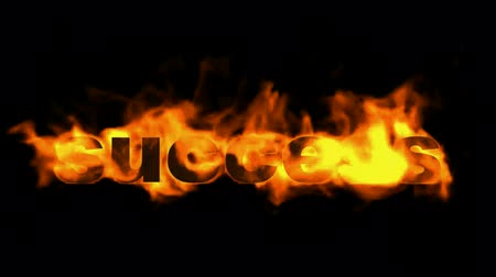 primeiro plano : success fire text,burning business key word.