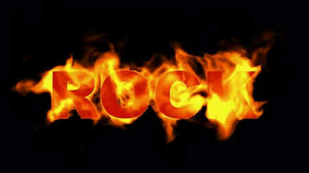 fire rock word. Stock mozgókép