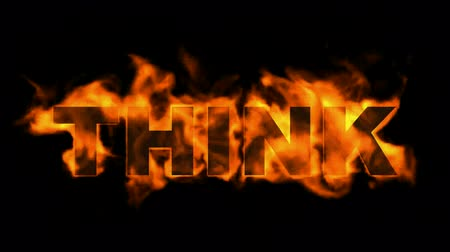 ardente : fire think word. Stock Footage