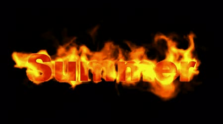 ardente : burning summer word,fire text.