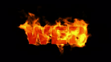 creativity : web,burning internet word.
