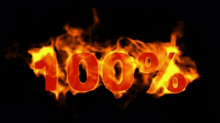 giveaway : Sale  100%,burning hundred Percent,fire text. Stock Footage