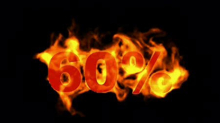 giveaway : Sale Off 60%,burning sixty Percent Off,fire text.