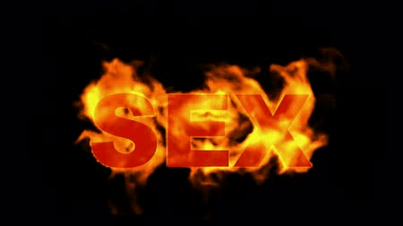 burn sex word,fire text. Vídeos