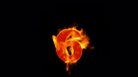 caminetti : Burning fire numero 6. Filmati Stock