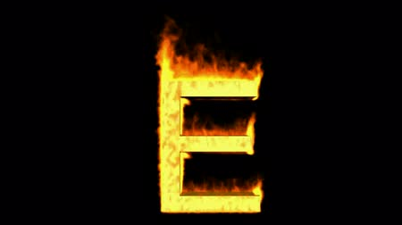 hieróglifo : fire letter E,uppercase. Stock Footage