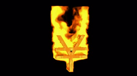 yanmak : RMB sign with fire.