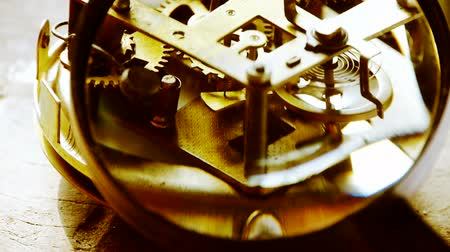 time machine : Magnifying glass to enlarge internal structure of Watch,bearings,gears.