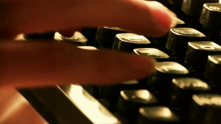 clerical : Hands typing on a typewriter. Stock Footage