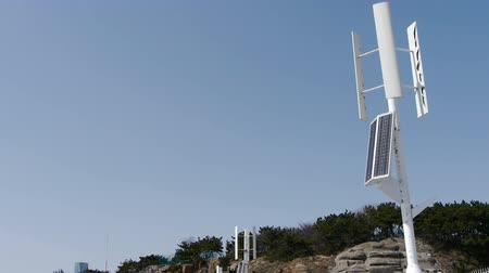 solarium : Wind solar turbine and new power energy.
