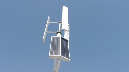eko : Wind solar turbine and new power energy.