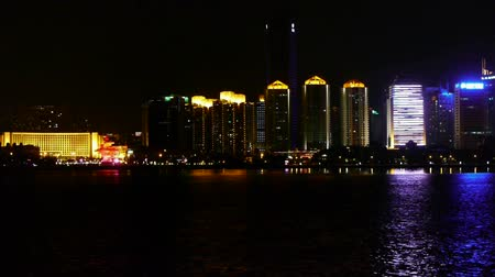kanto district : Seaside city at night,skyscrapers,metropolis,Night neon view,Hong Kong,New York.