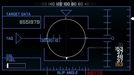 radars : computer game interface,radar GPS navigation screen display,futuristic tracking system & number,hi-tech software panel,center of target. Stock Footage