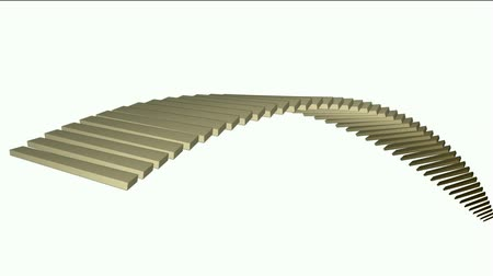 arch bridges : square box shaped arch bridge,math geometry array,conveyor belt & stairs,computer tech web background. Stock Footage