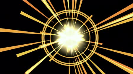 bohové : explosion & rays light in space.