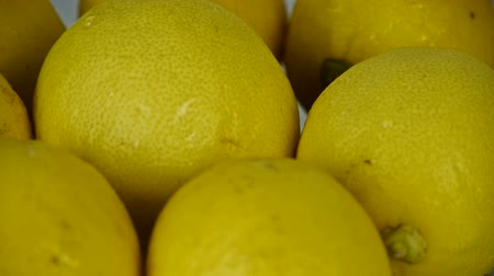 limon : A set of fresh lemon fruit vegetables.