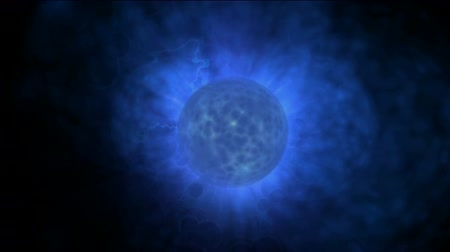 estouro : blue planet & power explosion rays laser energy in universe. Vídeos
