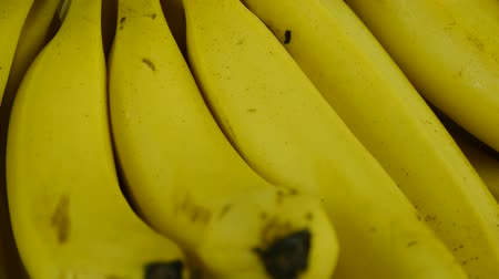 vitamin : Rotation of delicious banana fruit plate.