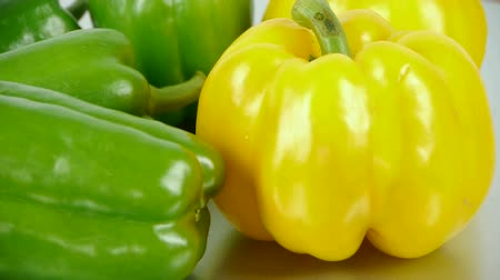 peper : Fresh green peppers. Stock Footage