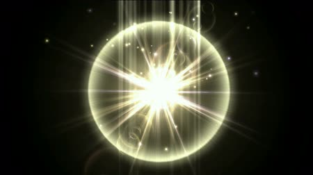 star shape : nuclear explosion,power tech electron energy field launch rays laser in darkness space.