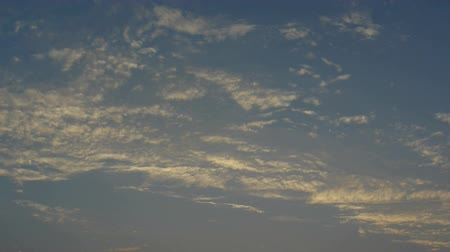 altocumulus : Panoramic of sunset clouds. Stock Footage