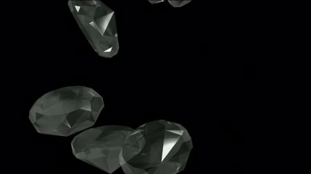 luxo : falling large diamonds & gems.