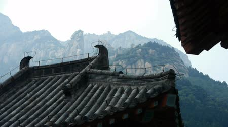 Японская культура : China ancient temple architecture in forest,bamboo mountain hill.