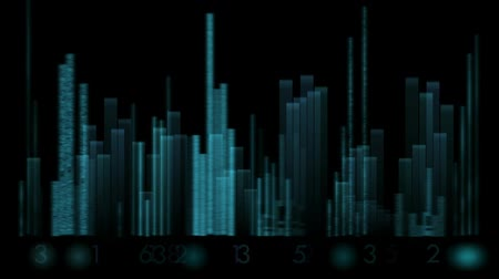 rock music : video equalizer,music rhythm Volume,speakers waves spectrum,heart-rate. Stock Footage