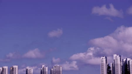 altocumulus : Movement of altocumulus clouds in sky,building high-rise at urban city.