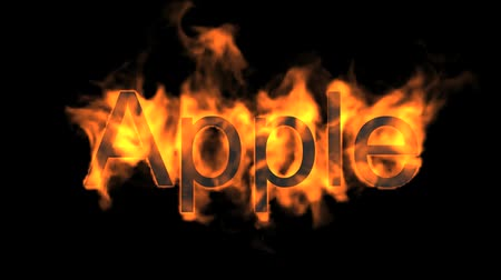 engulfed : fire apple word.