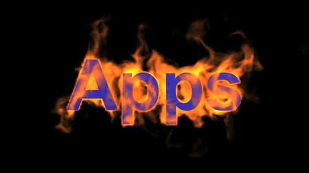 engulf : flame blue apps word,fire text.