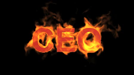 engulfed : flame CEO word,fire text.