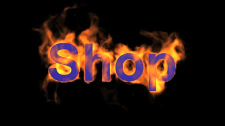 engulf : flame blue shop word,fire text.