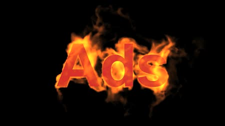 engulfed : flame ads word,fire text.