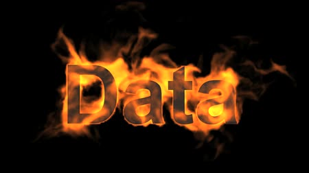 engulf : flame data word,fire text. Stock Footage