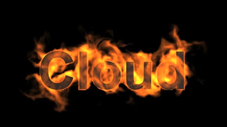 engulfed : flame cloud word,fire text.