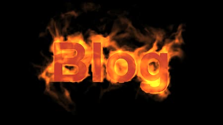 engulf : flame blog word,fire text.