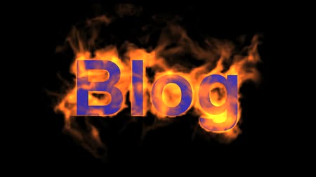 engulf : flame blue blog word,fire text.