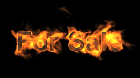 engulf : flame for sale,fire text. Stock Footage