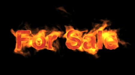 engulfed : flame for sale,fire text. Stock Footage