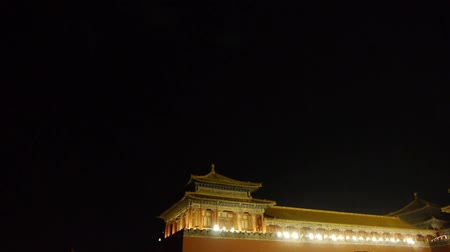 great wall of china : Panoramic of Beijing Forbidden City & Gorgeous palace.the Great Wall battlements.