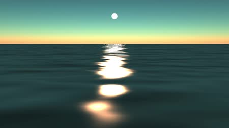 балки : sun reflecting on ocean.