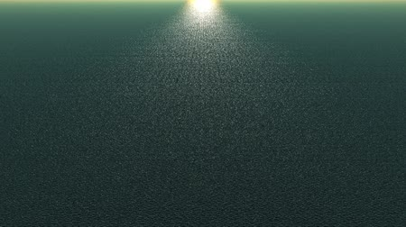 harmonia : panoramic wide shine wave sea,sunlight reflecting on ocean.  Wideo